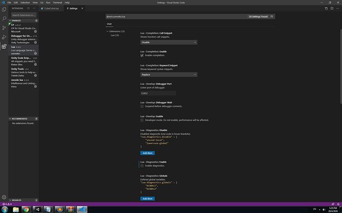 Vcs Lua setting server prop1