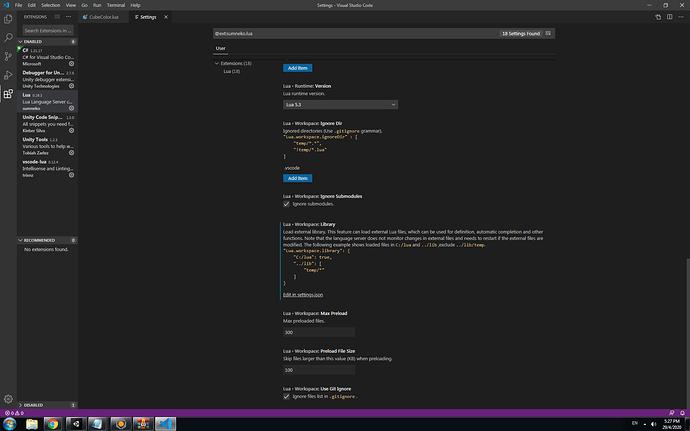 Vcs Lua setting server prop3