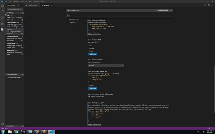 Vcs Lua setting server prop2